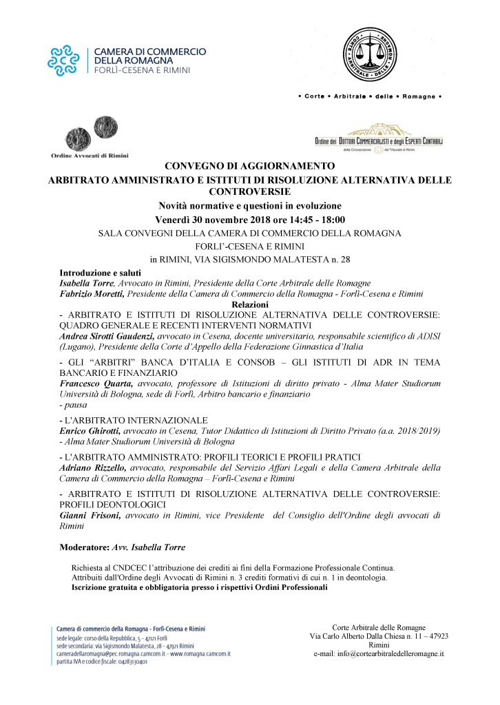 Locandina_CorteArbitraleRomagne_Convegno_30nov2018ac-1
